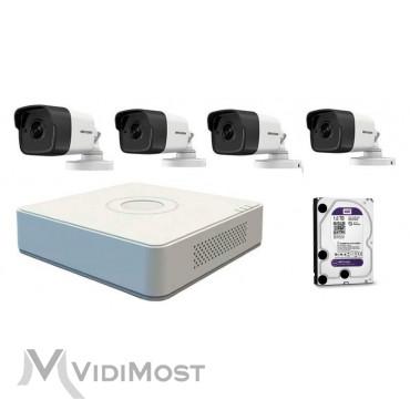 Комплект відеоспостереження Hikvision NK4E0-1T-1
