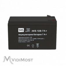 Акумуляторна батарея SVS АКБ 12В 7А/г