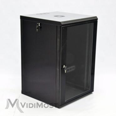 Шафа CMS MGSWL 18U, 600x600x907 чорна-1