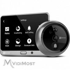 Комплект 3 в 1, дверне вічко, дзвінок і домофон Ezviz CS-DP1 (A0-4A1WPFBSR)