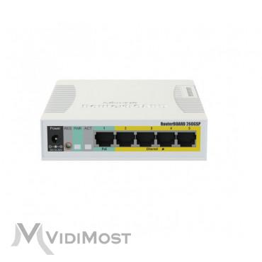 Комутатор Mikrotik RB260GSP (CSS106-1G-4P-1S)-1