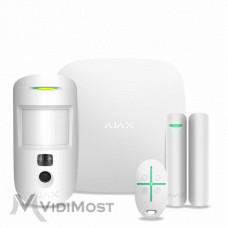 Комплект сигналізації Ajax StarterKit Cam Plus білий