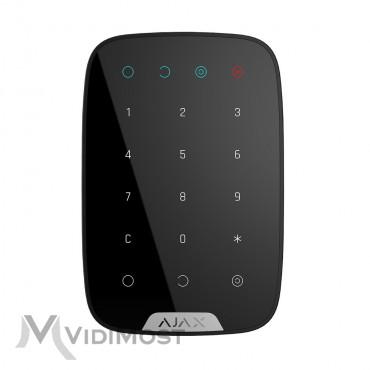 Бездротова сенсорна клавіатура Ajax KeyPad чорна-1