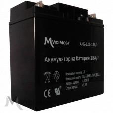 Акумуляторна батарея Vidimost АКБ-12В-18А / ч