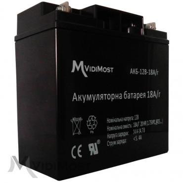 Акумуляторна батарея Vidimost АКБ-12В-18А / ч-1