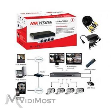 Комплект TurboHD відеоспостереження Hikvision DS-J142I / 7104HQHI-F1 / N - Фото №1