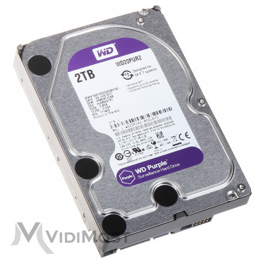 Жорсткий диск Western Digital Purple 2TB 64MB 5400rpm WD20PURZ 3.5 SATA III - Фото №1