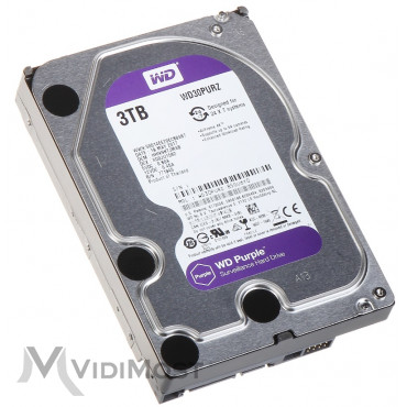 Жорсткий диск Western Digital Purple 3TB 64MB 5400rpm WD30PURZ 3.5 SATA III - Фото №1